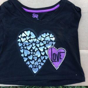 Love black and purple shirt